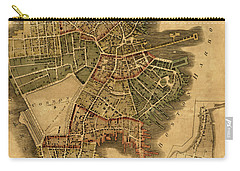 Map Of Boston 1814 Carry-all Pouch by Andrew Fare