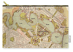 Map Of Canberra 1913 Carry-all Pouch by Andrew Fare