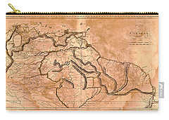 Map Of Caracas 1814 Carry-all Pouch by Andrew Fare