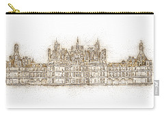 Map Of The Castle Chambord Carry-all Pouch by Anton Kalinichev