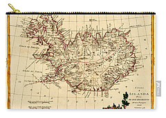 Map Of Iceland 1791 Carry-all Pouch by Andrew Fare