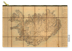 Map Of Iceland 1849 Carry-all Pouch by Andrew Fare