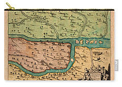 Map Of Iraq 1680 Carry-all Pouch by Andrew Fare