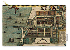 Map Of Java 1669 Carry-all Pouch by Andrew Fare