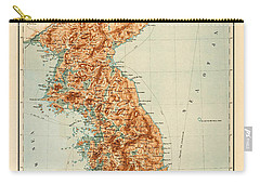 Map Of Korea 1903 Carry-all Pouch by Andrew Fare