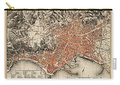Map Of Naples 1860 Carry-all Pouch by Andrew Fare