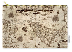 Map Of Sicily 1594 Carry-all Pouch by Andrew Fare