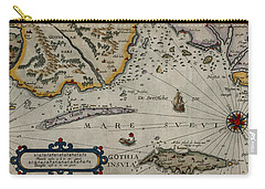 Map Of Sweden 1606 Carry-all Pouch by Andrew Fare