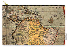 Map Of The Americas 1570 Carry-all Pouch by Andrew Fare