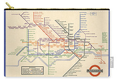 Map Of The London Underground - London Metro - 1933 - Historical Map Carry-all Pouch