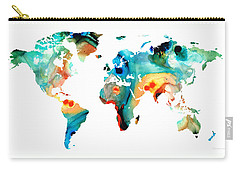 Map Of The World Carry-All Pouches