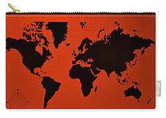 Carry-all Pouch featuring the photograph Map Of The World Copper by Rob Hans