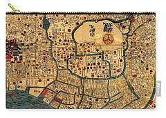 Map Of Tokyo 1845 Carry-all Pouch by Andrew Fare