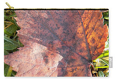 Maple Leaf And Grass Carry-all Pouch