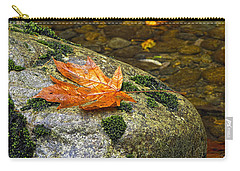 Maple Leaf On A Rock Carry-all Pouch