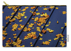 Maple Leaves On A Metal Roof Carry-all Pouch
