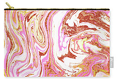 Marble And Rose Gold Dust Carry-all Pouch