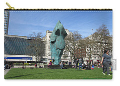 Carry-all Pouch featuring the photograph Horse Sniffing The Tourists Farts - Hyde Park Corner 01 - London  by Mudiama Kammoh