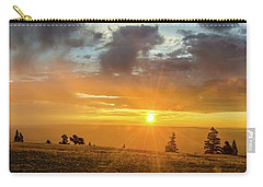 Carry-all Pouch featuring the photograph Marble View Sunrays by Gaelyn Olmsted