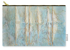 Carry-all Pouch featuring the painting Marbled Yachts by Valerie Anne Kelly