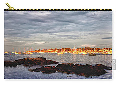 Carry-all Pouch featuring the photograph Marblehead Neck From Fort Beach by Jeff Folger