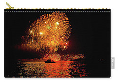 Carry-all Pouch featuring the photograph Marblehead Fireworks by Jeff Folger