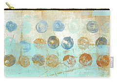 Carry-all Pouch featuring the mixed media Marbles Found Number 1 by Carol Leigh