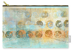 Carry-all Pouch featuring the mixed media Marbles Found Number 3 by Carol Leigh