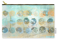 Carry-all Pouch featuring the mixed media Marbles Found Number 4 by Carol Leigh