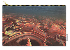 Carry-all Pouch featuring the painting Marbletropolis by Dave Luebbert