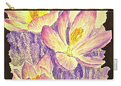 March Crocus Carry-all Pouch