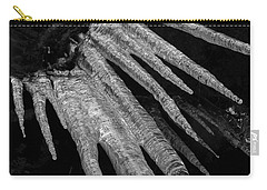 Carry-all Pouch featuring the photograph March Icicles 3 by Mike Eingle