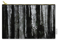 Carry-all Pouch featuring the photograph March Icicles by Mike Eingle