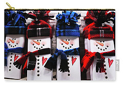 March Of The Snowmen Carry-all Pouch