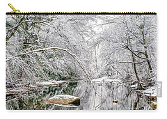 March Snow Along Cranberry River Carry-all Pouch by Thomas R Fletcher
