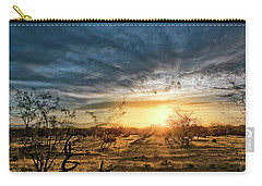Carry-all Pouch featuring the photograph March Sunrise by Lynn Geoffroy