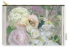 Marche Aux Fleurs Vintage Paris Eiffel Tower Carry-all Pouch by Audrey Jeanne Roberts