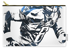Carry-all Pouch featuring the mixed media Marcus Mariota Tennesse Titans Pixel Art 2 by Joe Hamilton