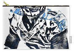 Carry-all Pouch featuring the mixed media Marcus Mariota Tennessee Titans Pixel Art 3 by Joe Hamilton