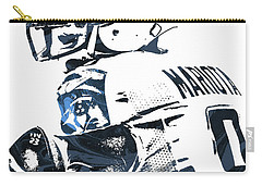 Carry-all Pouch featuring the mixed media Marcus Mariota Tennessee Titans Pixel Art by Joe Hamilton