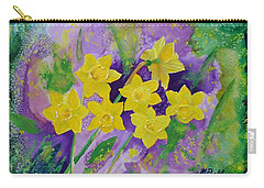Mardi Gras Daffodils Carry-all Pouch
