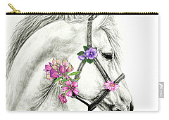 Mare With Flowers Carry-all Pouch