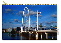 Margaret Hunt Hill Bridge Dallas Flood Carry-all Pouch by Kathy Churchman