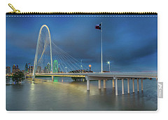 Carry-all Pouch featuring the photograph Margaret Hunt Hill Bridge Dallas Texas by Robert Bellomy