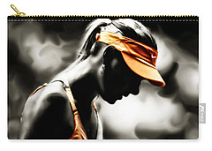 Maria Sharapova Deep Focus Carry-all Pouch by Brian Reaves