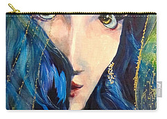 Mariah Blue Carry-all Pouch by Barbara O'Toole