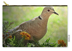 Carry-all Pouch featuring the photograph Marigold Dove by Debbie Portwood