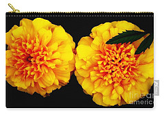 Marigolds With Oil Painting Effect Carry-all Pouch by Rose Santuci-Sofranko