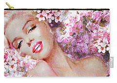 Marilyn Cherry Blossoms Pink Carry-all Pouch