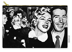 Marilyn Monroe And Joe Dimaggio 1950s Photos By Unknown Japanese Photographer Carry-all Pouch
